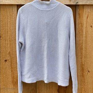 Open back turtleneck sweater